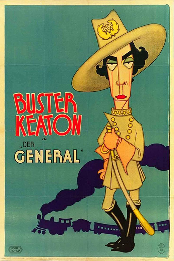 7 Art Cinema | The General - 1926 - Clyde Bruckman, Buster Keaton | Starring = Buster Keaton : Johnnie Gray, Marion Mack : Annabelle Lee, Glen Cavender : capitain Anderson, Jim Farley : general Thatcher, Frederick Vroom : general, Charles Smith : Annabelle Father, Frank Barnes : Annabelle Brother, Frank Agney, Joe Keaton, Mike Donlin, Tom Nawm | Director : Buster Keaton, Clyde Bruckman, Written by : Al Boasberg, Charles Smith, B. Keaton, C. Bruckman, William Pittenger, Dev Jennings, Bert Haines, Fred Gabourie, J. Sherman Kell, Harry Barnes, Joseph M. Schenck, United Artists | Film Poster