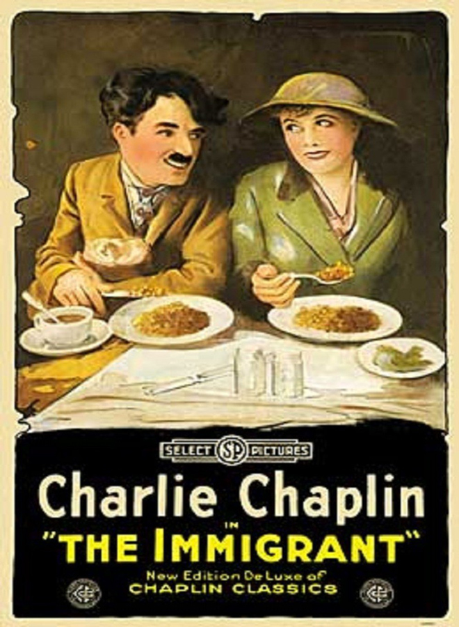 7 Art Cinema | L'Emigrant / The Immigrant - 1917 - Charlie Chaplin | Affiche
